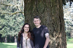 SUBMITTED PHOTO - Pictured above are Audra Dominguez and Charles Gesik, who announced their engagement; they will be married on Sept. 17. They both graduated from Canby High School.