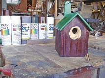 PAMPLIN MEDIA GROUP: JOAN BROWN - Primer and enamel are among the tools necessary for creating an attractive birdhouse.