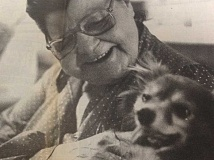 ARCHIVE PHOTO - Joyce Michael, a resident of 300 Main, was fighting to keep Sir Anthony, her 18-year-old pomeranian dog. Sir Anthony's barking disturbed other 300 main residents, but Michael said the beloved dog was all she had in the world.