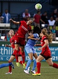 TRIBUNE PHOTO: JONATHAN HOUSE - The Portland Thorns' Katherine Reynolds heads the ball against the Chicago Red Stars.