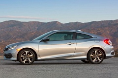 AMERICAN HONDA MOTOR COMPANY - The redesigned 2016 Honda Civic coupe moves back to the top of the compact car class.