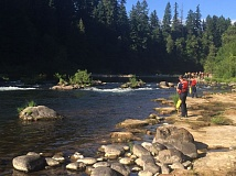 CONTRIBUTED PHOTO: ESTACADA RURAL FIRE DISTRICT - Multiple agencies responded to reports of a swimmer in distress in the Clackamas River at Milo McIver State Park on Wednesday, June 29. The swimmer did not survive the incident.