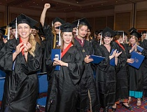 SUBMITTED PHOTO - Celebrating life as new graduates is part of Marylhurst's June 18 commencement ceremony at the Oregon Convention Center in Portland.
