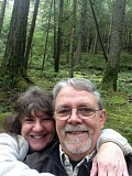 CONTRIBUTED PHOTO - Cyndi Simpson and her husband, Buddy, enjoy a hike. Simpson loves spending time outdoors.