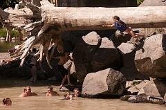 PAMPLIN MEDIA GROUP FILE PHOTO - The Sandy River can be a popular swimming spot in July and August.
