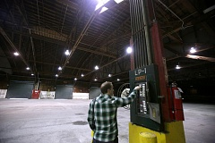 PORTLAND TRIBUNE: JONATHAN HOUSE - Bureau of Environmental Services property manager Eli Callison helps prepare the bureau-owned warehouse that sits at Terminal 1 for sale.
