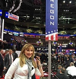 SUBMITTED PHOTO - Kim Thatcher (R-Keizer), who represents Wilsonville in the Oregon State Senate, was an Oregon delegate at the Republican National Convention in Cleveland, Ohio July 18-21.