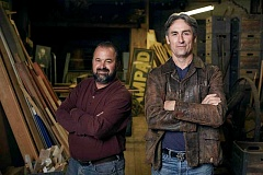 SUBMITTED PHOTO  - Frank Fritz, left, and Mike Wolfe of American Pickers will be coming to Oregon to film this summer. They are looking for leads and would love to explore your hidden treasures.