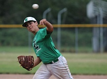PAMPLIN MEDIA: JIM BESEDA - Estacada pitcher Jose Vazquez threw six innings during the Rangers 5-4 win over Clackamas in the finale of the county playoffs.