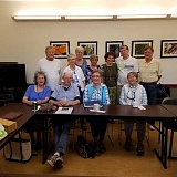 SUBMITTED PHOTO  - The writing group includes, front row (from left), Marlene Fellman, Michael Wendt, Karen Faw, Patty Montgomery. Back row (from left), are Jim Stell, Cynthia Gibson, Barbara Nuxall Isom, Ethel Inaba, Dorothy Deline, Warren Guest and Dwight Kennedy.