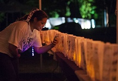 SPOKESMAN FILE PHOTO - A luminaria ceremony that honors those whove lost their fight with cancer is one of the most memorable parts of the Relay for many participants.