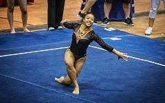 RALPH GREENE - Lena Greene, a 2016 Tigard High School graduate, competes at the Oregon State Championships.