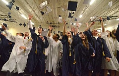 REVIEW FILE PHOTO: VERN UYETAKE - The Lake Oswego High School Class of 2016 celebrates at a commencement ceremony in June.