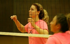 JIM BESEDA/CLACKAMAS REVIEW - Sophomore middle blocker Ashley Johnson is one of Clackamas Community College's six returning volleyball players.