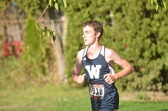 SPOKESMAN PHOTO: COREY BUCHANAN - Wilsonville junior Nicholas Whitaker won the Northwest Oregon Conference Preview race after finishing second last year.