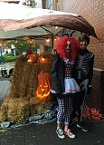 COURTESY SHERWOOD MAIN STREET - Dylan and Hailey Blue of Sherwood were among the volunteers who helped out at last year's Old Town Sherwood Halloween event. The event continues this year beginning at 3 p.m. on Oct. 31.