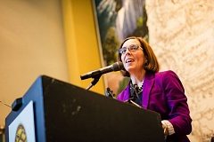 FILE PHOTO - Gov. Kate Brown has endorsed Measure 97.