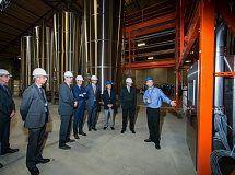 SUBMITTED PHOTO - The Agrinos board of directors tours the new state-of-the-art crop microbial production facility in Clackamas.