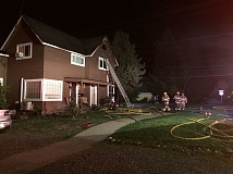 FOREST GROVE FIRE & RESCUE - Eight adults and two children from multiple families were displaced by a fire in this triplex Sunday morning.