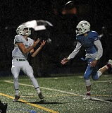 VERN UYETAKE - West Linns Jake Meisen had two long touchdown receptions in the Lions victory over Lakeridge on Friday.