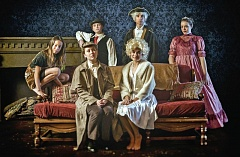 SUBMITTED PHOTO - Among the featured players in Valley Catholic's 'The Secret Case of Sherlock Holmes,' are (back row, left to right) Ashley Baldino, Connor Espig and Lauren White, and (front row) Allison Waters, Hannah Johnson and Saksen Hathaway
