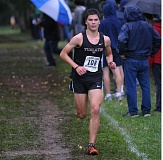 PAMPLIN MEDIA GROUP: SETH GORDON - Tualatin junior Adam Klein is all alone in front at the Three Rivers League district meet.