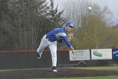 GRESHAM OUTLOOK: MATT RAWLINGS - Gresham's Jacob Biesterfeld deals to the plate in the Gophers 8-0 win over Clackamas