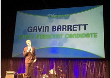 SUBMITTED - Molalla FBLA member Gavin Barret was named State President of the Oregon FBLA at last week's state convention.