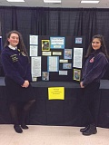 "COURTESY PHOTO: SETH STODDARD - Woodburn High School freshmen Sulwyn DeCrozuc (left) and Midori Erwin earned first-place honors in their division at the Oregon FFA State Agriscience Fair for their ""Drip or Drown"" hydroponic lettuce experiment."