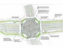 SUBMITTED PHOTO - The work, if approved by voters, would use some park and open space in the process of creating new buffered cycle tracks and pedestrian paths along Highway 43.