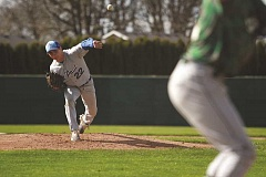 PHIL HAWKINS - St. Paul sophomore Justin Herberger struck out 11 in the Bucks' 5-2 loss at No. 1 Regis on April 18.
