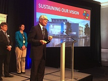 COURTESY OF AMERICA'S BEST COMMUNITIES - Tualatin Mayor Lou Ogden speaks at the final round of the America's Best Communities competition on April 19 in Denver.