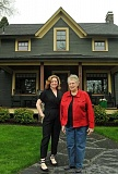 REVIEW PHOTO: VERN UYETAKE - Oswego Heritage Council Executive Director Nancy Niland (left) and Historic Home Tour chairwoman Nancy Dunis visit The Needham House, one of the stops on this year's tour.