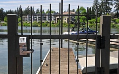 REVIEW PHOTO: VERN UYETAKE - The Oregon Court of Appeals has ruled that the City of Lake Oswego has the right to restrict public access to Oswego Lake from City-owned parks such as Sundeleaf Plaza.