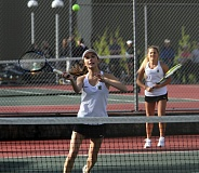 TIDINGS FILE PHOTO - West Linn's Kate Whitehall (shown earlier this year) and partner Montgomery Lee Todd won the doubles consolation bracket at the Three Rivers League district tennis tournament last week.