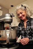 REVIEW PHOTO: VERN UYETAKE - Rose Hubler has been making scones in her Lake Oswego kitchen and selling them at the Farmers Market since the popular attraction's first season. She'll be in Millennium Plaza Park again on Saturday for the market's 17th opening day.