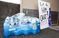TRIBUNE PHOTO: JONATHAN HOUSE - Portland schools are using bottled water after eleveated levels of lead were found in some schools' water. Regional school officials are trying to assure anxious parents that their water is safe.
