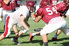 FOREST GROVE NEWS-TIMES: WADE EVANSON - Forest Grove football players work towards their season-opener this Friday at West Albany.