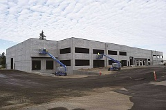 DANIEL PEARSON - The 39,000-square-foot Trend Business Center Building C rises two stories high in the Canby Pioneer Industrial Park.