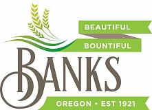 COURTESY GRAPHIC - This new proposed logo would update Banks current logo, which features trees, a mountain and a raindrop.