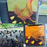 SUBMITTED PHOTOS - These chickens are some of the art pieces offered by Ann Munson.