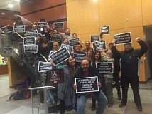 (Image is Clickable Link) COURTESY PHOTO: VOZ HISPANA CAMBIO COMUNITARIO - Activists from both WashCo Solidarity and Voz Hispana Cambio Comunitario spoke to the Hillsboro City Council during its meeting Dec. 6.