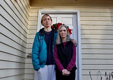 REVIEW PHOTO: KELSEY OHALLORAN - Shane and Cynthia Johnson are scheduled to be evicted from their Lake Oswego home Jan. 5, but they say support from the community will help save their belongings and give them a place to stay for now.