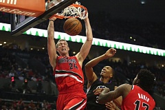 TRIBUNE PHOTOS: JAIME VALDEZ - Trail Blazers center Mason Plumlee is one of the NBA's leaders in dunks this season.
