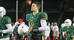 TIDINGS FILE PHOTO - West Linn quarterback Tim Tawa continued to rack up the honors following his record-breaking senior season, this time being named Oregon's Class 6A Offensive Player of the Year.