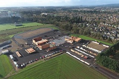 SUBMITTED PHOTO - The new Meridian Creek already has walls going up as all the footprint for the school has been laid.