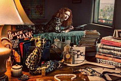 COURTESY: ANGELA M. SANDERS - Portland author Angela Sanders mixes her love of mystery and writing with an affinity for perfumes and vintage couture, such as the 1930s dressing gown in the above photo.