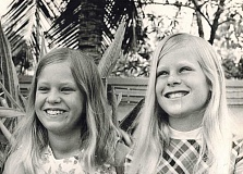 COURTESY OF BOB RODZWELL - Stacy (left) and Holly Rodzwell, pictured in March 1970 in Bangkok, dealt with heat and humidity, venomous snakes, eating squid jerky, meeting kids from all over the world at their international school and being part of a close-knit military community while living with their mom Jody in Bangkok.