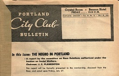 "PMG PHOTO - A 1945 City Club of Portland report recommended reducing racial tensions by requiring the city's all-white police force receive training to promote greater ""tolerance and understanding."" The police chief showed a ""lack of enthusiasm"" for the idea."