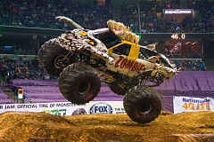 COURTESY: MONSTER JAM - Tyler Groth drives the the popular and well-decorated Zombie track in Monster Jam, which stops at Moda Center, Feb. 25-26.